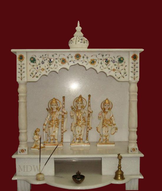 79 best marble mandirs images on pinterest prayer room mandir design and hindus for Marble temple designs for home