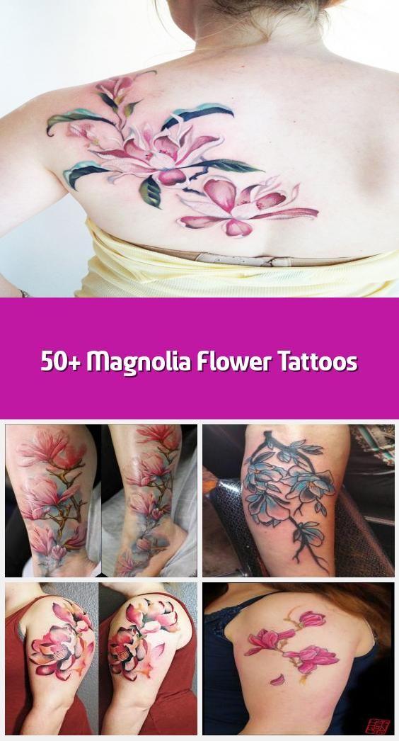 50+ Magnolia Flower Tattoos - Pink magnolia flower tattoo ...