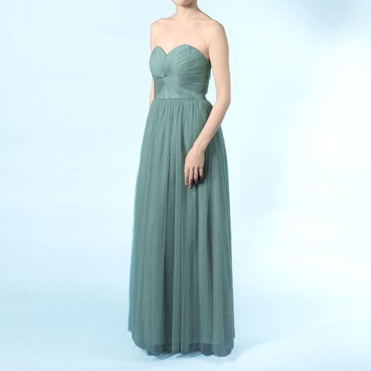 インフィニティロングドレス・ボビネット(フォレストグリーン)ボビネットならではのエアリーなボリューム感が魅力。 #Bridesmaid #Wedding #Dress #Green