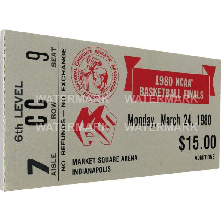 That's My Ticket Louisville 1980 Ncaa Basketball Finals Canvas Mega Ticket, Team