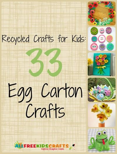 Egg Carton Crafts for Kids ~ some of these I had seen before but some are new to me!
