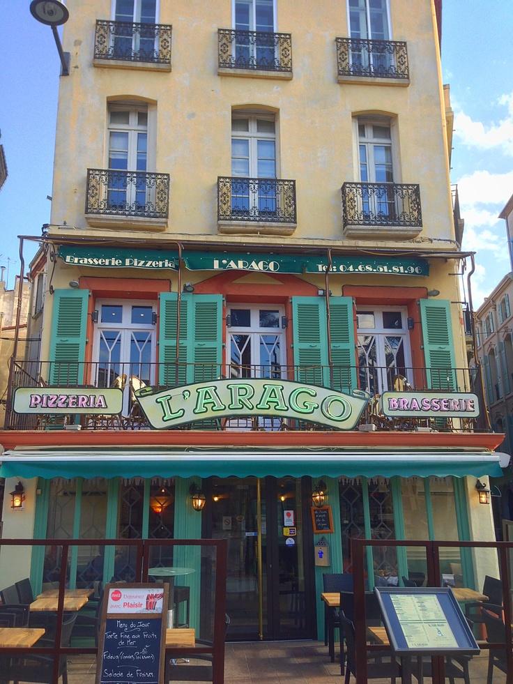 Restaurant l'Arago at Place Arago in Perpignan near the tourism office