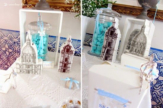 some landmarks for this vintage travel plane party