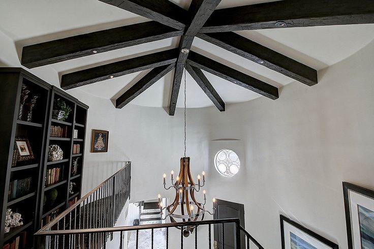 257 best ceiling beams and planks images on pinterest for Faux wood ceiling planks