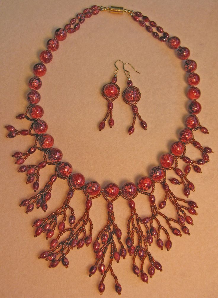Simply divine necklace & earrings - own design
