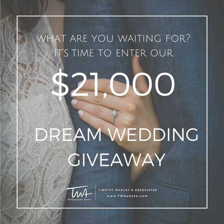 Enter The $21,000.00 TWA Ultimate Wedding Giveaway!