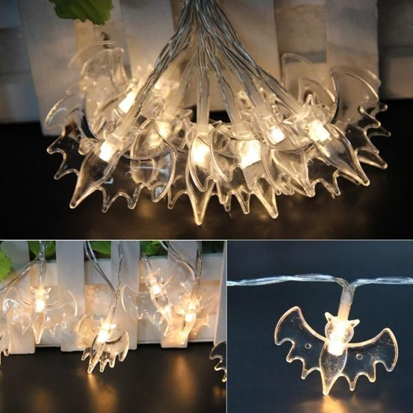 US$299 Battery Powered 10LEDs Warm White Bat Fairy String Light
