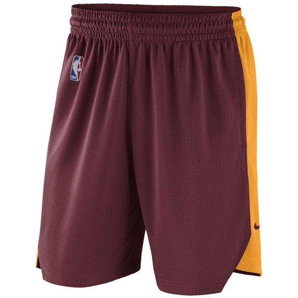 Nike Men's Cleveland Cavaliers Practice Shorts (170 RON) ❤ liked on Polyvore featuring men's fashion, men's clothing, men's activewear, men's activewear shorts and mens activewear shorts