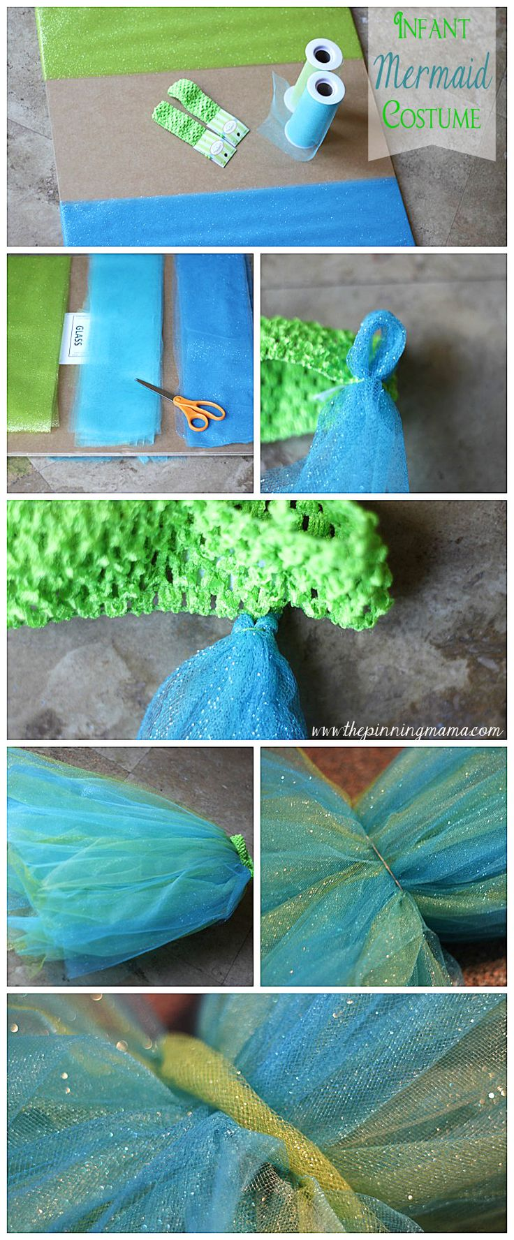 DIY Infant Mermaid Halloween Costume   The Pinning Mama