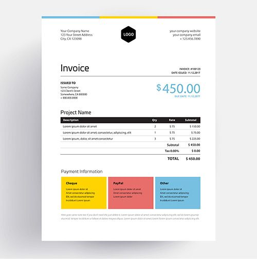 The 25+ best Invoice design template ideas on Pinterest Invoice - invoice style