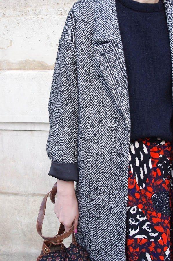 Tweed Coat, Moriarty, Parisian Fashion, Parisians, Grey, Minimal Chic,  Paris France Fashion, Parisian, Paris Fashion