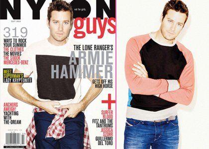 "Armie Hammer habla de ""Lone Ranger"" en NYLON Guys | GossipCenter ..."