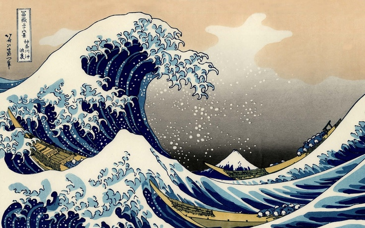 """""""The Great Wave"""", Hokusai"""