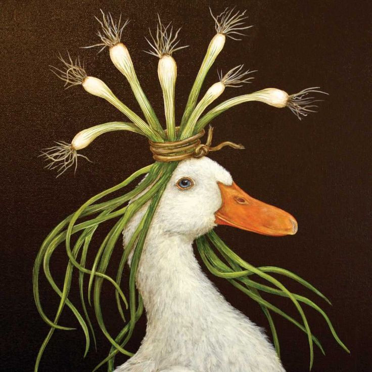 Paper Napkin by Paperproducts Design (beverage & lunch sizes available), art by Vicki Sawyer. Design: 'Miranda' the duck
