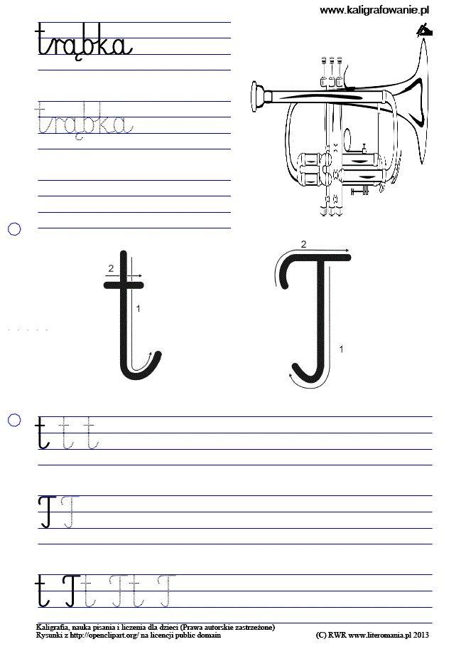 Kaligrafia, nauka pisania dla dzieci, szablony do nauki pisania liter do wydruku, szlaczki, sudoku, rysowanie, nauka liczenia
