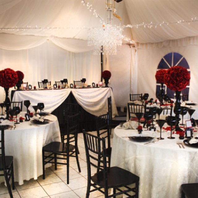 Red Black And White Wedding Decor Ideas Pictures