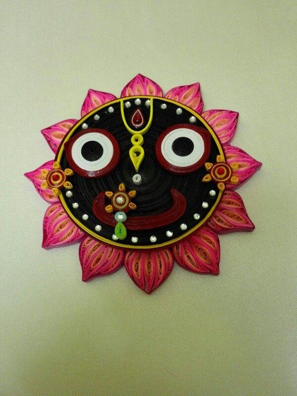 Paper quilled Puri Jagannath