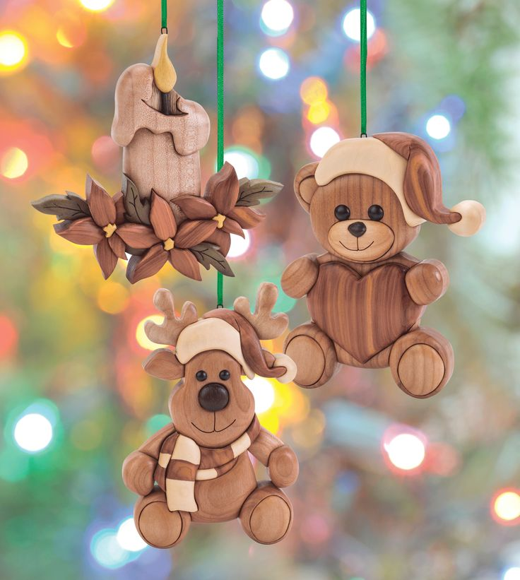 These easy intarsia ornaments designed by Bruce Worthington and made by Janette Square make gorgeous gifts that can be made from scrap wood. Learn more about the projects in Scroll Saw Woodworking & Crafts Holiday 2015 (Issue 61) at http://scrollsawer.com/2015/11/05/scroll-saw-woodworking-crafts-holiday-2015-issue-61/.