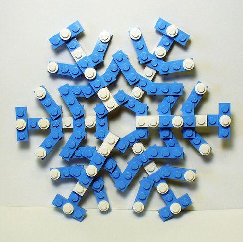 blue lego snowflake