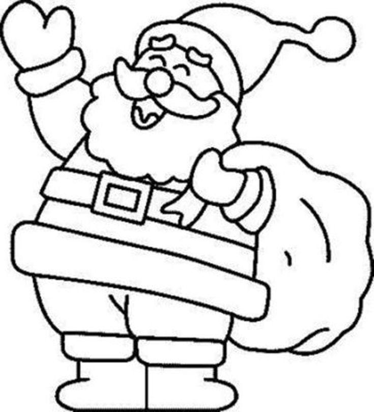Imagen para dibujar y colorear de Papa Noel                                                                                                                                                                                 Más