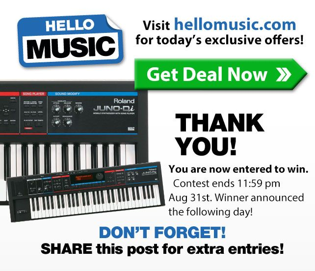 @hellomusic is giving away a #free #roland #synthesizer, enter here!   http://woobox.com/2o9non https://woobox.com/app/152026071537416/tab
