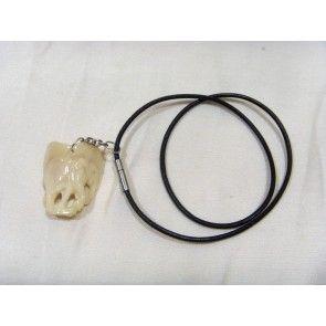 African design carved elephant necklace