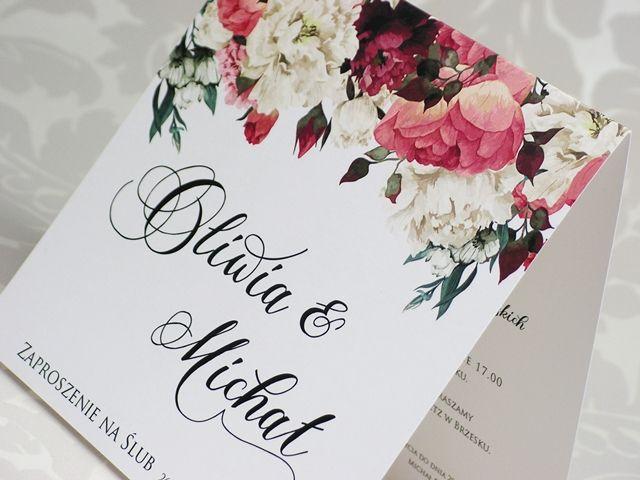 Zaproszenia Slubne Kwiatowe Biale I Czerwone Piwonie Fl 31 Wedding Book Cover