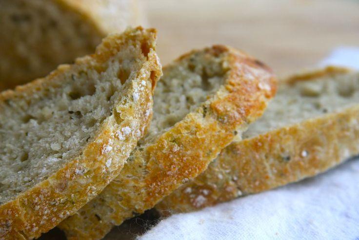 No-Knead Pesto Bread - A Homemade LivingA Homemade Living