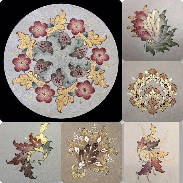 Ezhar/flowers #gardens #arts #artworld #finearts #islamicarts #classicarts #design #ornamentation #artgallery #painting #goldflowers #goldleaf #drawing