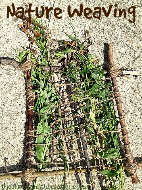 Nature Weaving - combining creativity and outdoor exploration