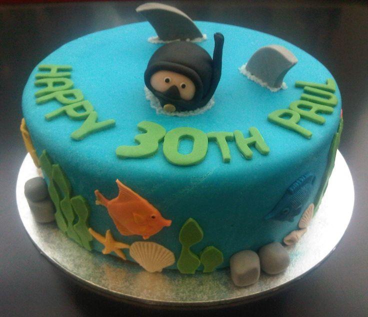 Scuba Diver Cake @Megan Ward Little @Cortney Hood Weatherby