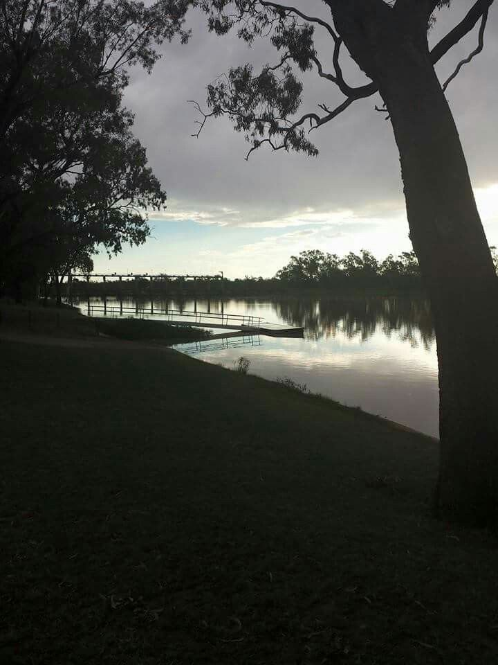 St George QLD at sunset
