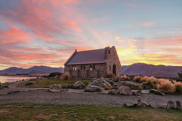 Sunrise at Church of the Good Shepherd, Lake Tekapo, South Island
