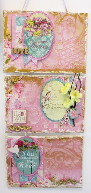 ScrapBerry's: Beautiful wall hanging decor by Irit Shalom with many romantic and shabby chic touches.