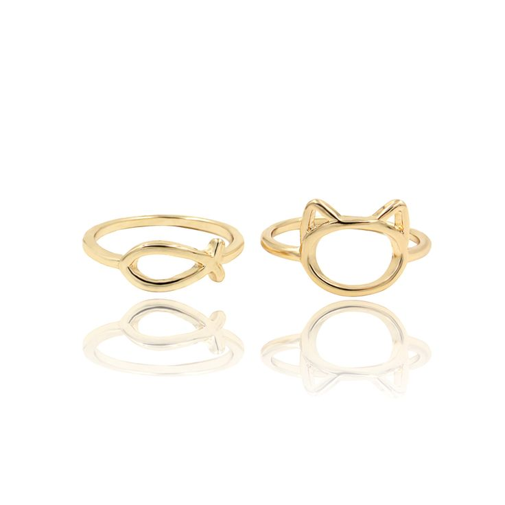 Maura. Set of 2 cute knuckle rings!