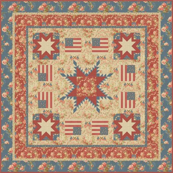 Faded Glory Quilt Pattern By Peddlecar Quilts Featuring