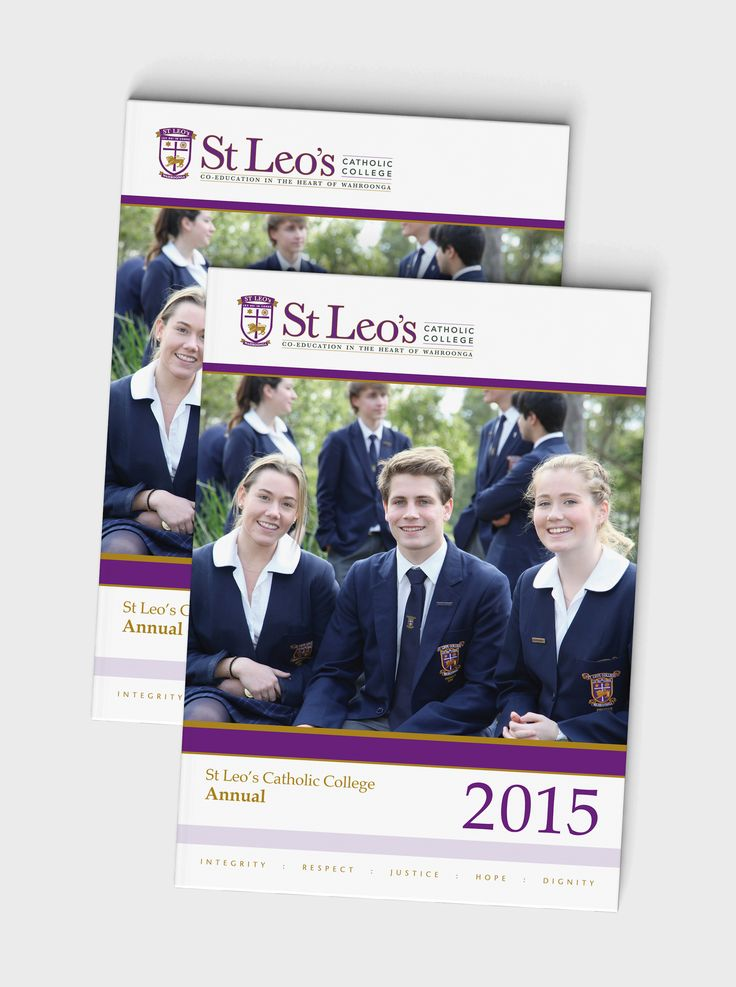 St Leo's Catholic College 2015 yearbook – Design + layout + print production
