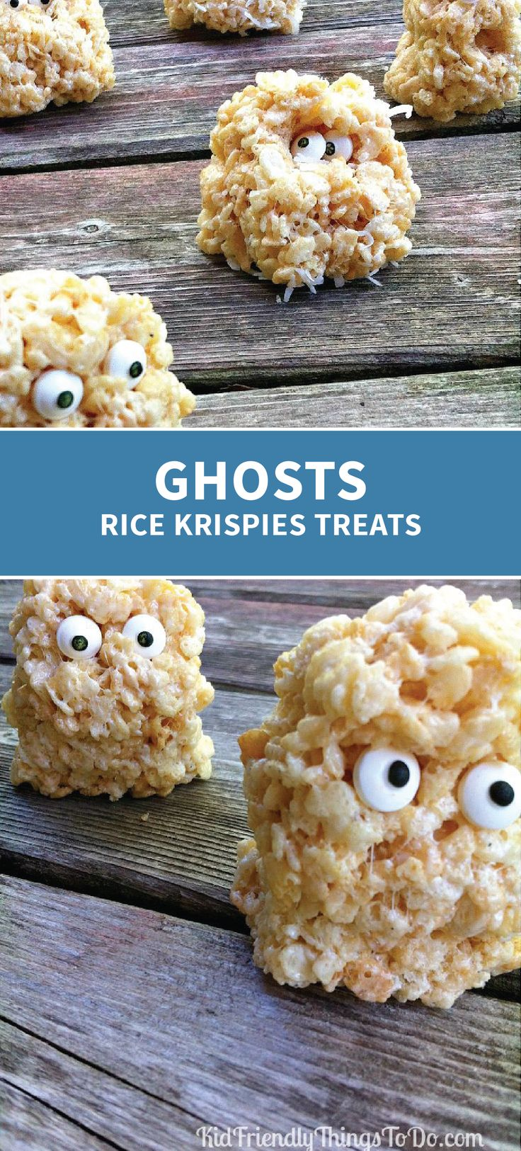 You should be anything but spooked to make these Ghosts Rice Krispies Treats® for your Halloween party. With simple decorations and an easy prep time, you can your kids can make these unique desserts in no-time.