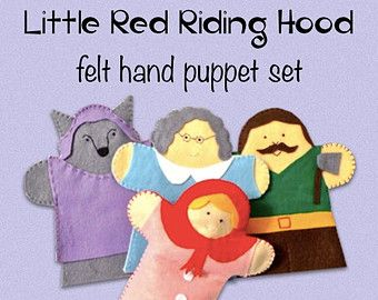 little red riding hood finger puppets 17 best images about va de contes on 7815