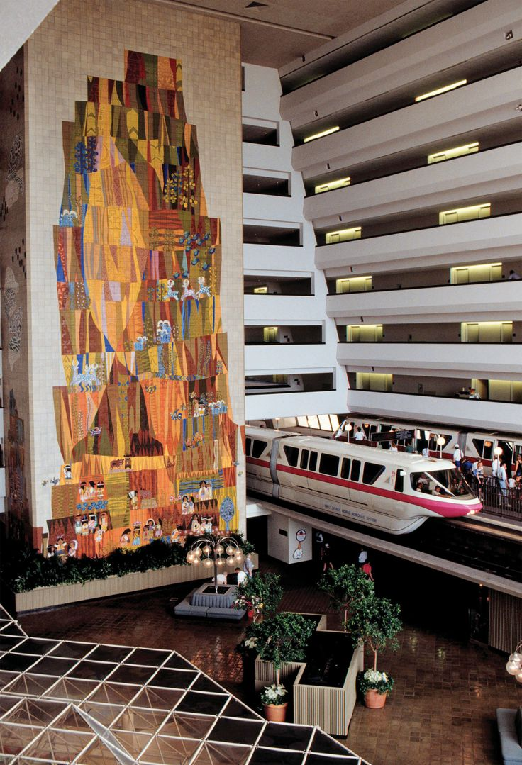 Disney Resort Hotels, Disney's Contemporary Resort - Lobby, Walt Disney World Resort