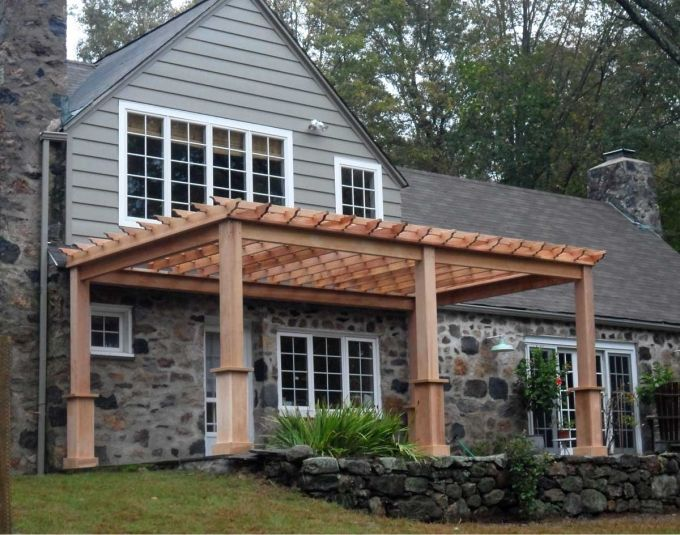 pergola attached to house ideas