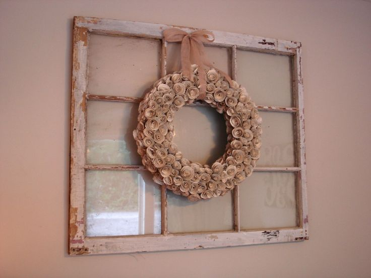 Decorate Old Windows Primitive Style | What About You Guys? Have You Done  Any Decorating