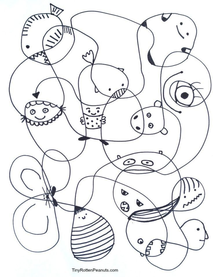 Scribble Creatures! The easiest way to be creative for a half hour.