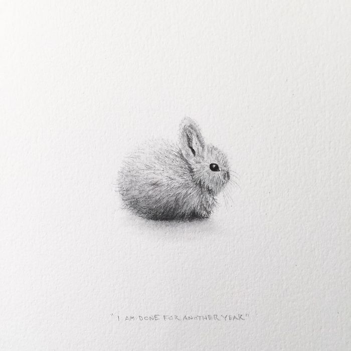 I Gave Up My Career To Raise A Family And To Stay Creative I Started Drawing Miniatures Every Day