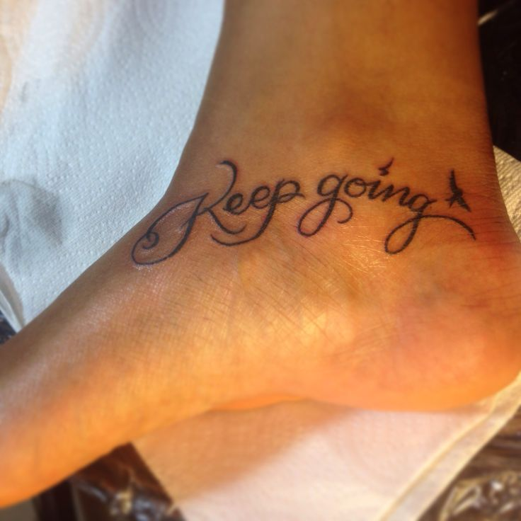 Inside ankle tattoo keep going tattoo 39 s pinterest for What do you put on a tattoo