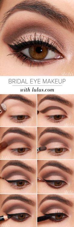 WE HEART IT: How-to Bridal Eye Makeup Tutorial