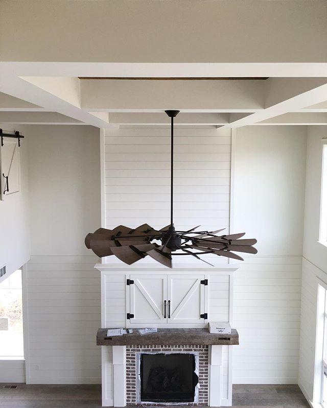 Modern Farmhouse Fireplace Shiplap
