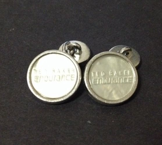 Pre Owned Ted Baker Endurance Cufflinks - Mother of Pearl Look
