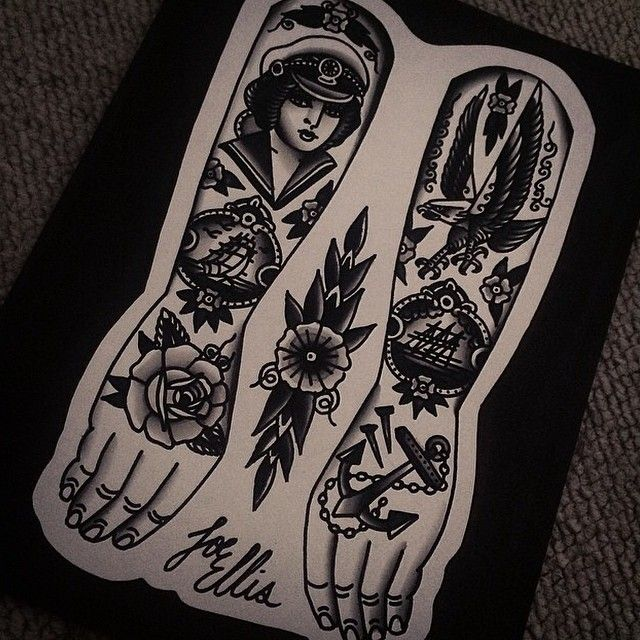 Goblet Tattoo On Forearm By Joe Ellis: Tattoo Flash Dobe By Joe Ellis Tattooer #tattoo #tattoos