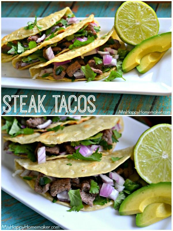 Easy Peasy Steak Tacos - these are my 14 year old daughter's FAVORITE meal ever, and they're so darn delicious!